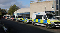 A strong police presence at the Sky Bet Championship match between Millwall and Birmingham City at The Den, London, England on 21 October 2017. Photo by Carlton Myrie.