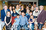 Kevin Lynch, Asdee, seated centre, celebrated his 50th birthday last Saturday night in the Brogue, Tralee with his wife Denise and 3 kids, Ciana, Padraig&Liam and many guests.