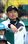 Hidenori Owaki (Tokai Daiyon),<br /> APRIL 1, 2015 - Baseball :<br /> Manager Hidenori Owaki of Tokai Daiyon during the 87th National High School Baseball Invitational Tournament final game between Tokai University Daiyon 1-3 Tsuruga Kehi at Koshien Stadium in Hyogo, Japan. (Photo by Katsuro Okazawa/AFLO)