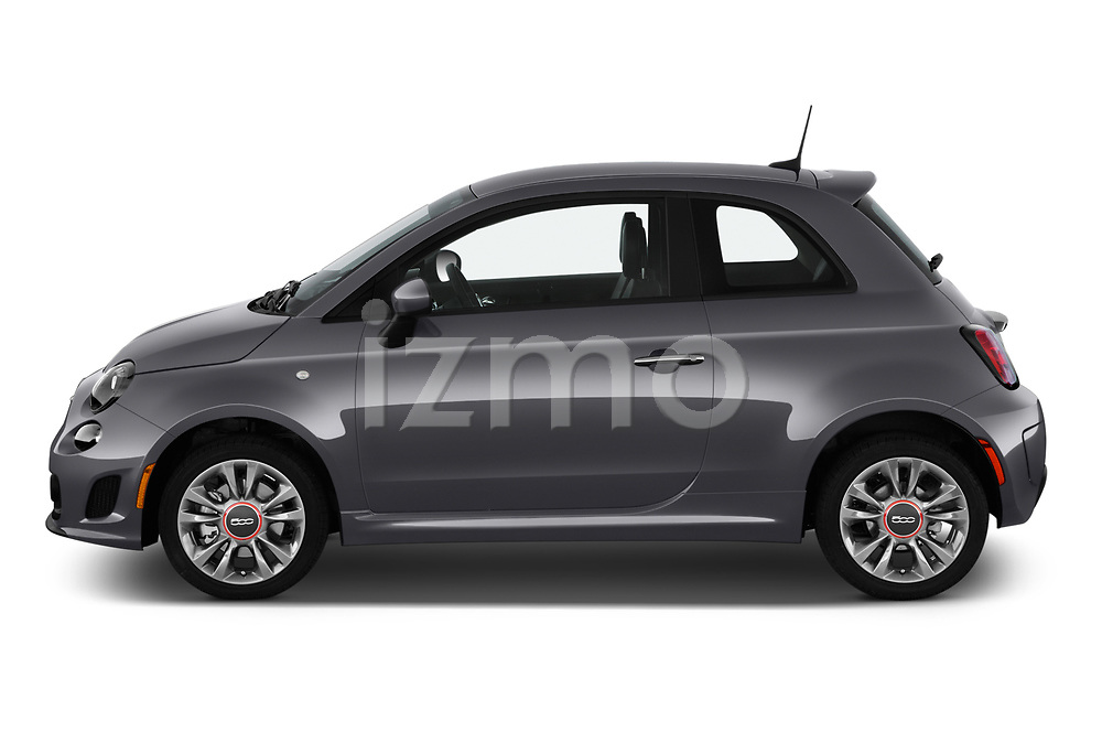 Car Driver side profile view of a 2019 Fiat 500 Pop 3 Door Hatchback Side View