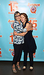 Robyn Goodman and Anna Louizos attends the 'Avenue Q' - 15th Anniversary Performance Celebration at Novotel on July 31, 2018 in New York City.