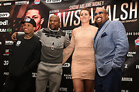Gervonta Davis (L), Floyd Mayweather with new signiging Savannah Marshall and Leonard Ellerbe during a Press Conference at the Landmark Hotel on 18th May 2017