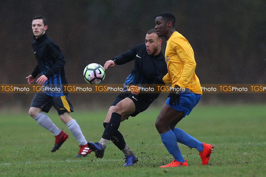 Hacimac (blue/black) vs Mile End, Hackney & Leyton Sunday League Football at Hackney Marshes on 15th January 2017