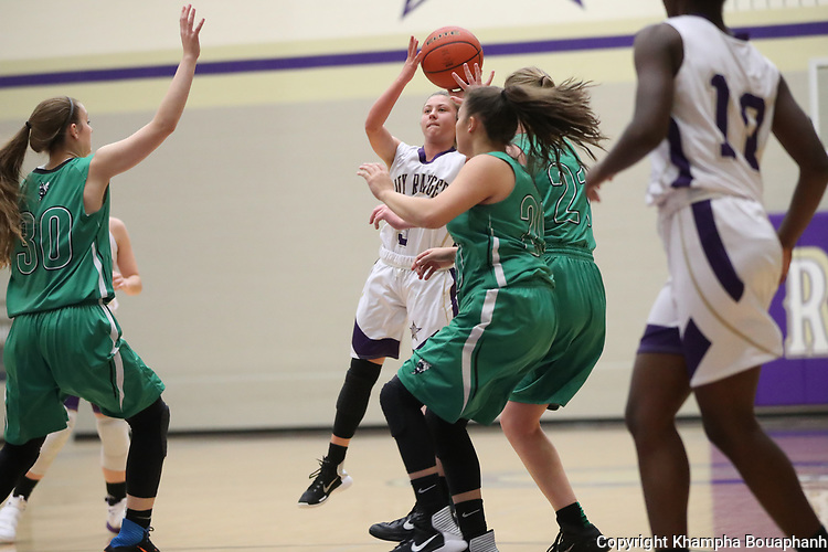 Chisholm Trail defeats Azle 38-32 in district 6-5A high school basketball in Fort Worth on Friday, December 15, 2017. (photo by Khampha Bouaphanh)