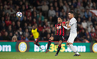 Callum Wilson of AFC Bournemouth & Chris Smalling of Man Utd during the Premier League match between Bournemouth and Manchester United at the Goldsands Stadium, Bournemouth, England on 18 April 2018. Photo by Andy Rowland.