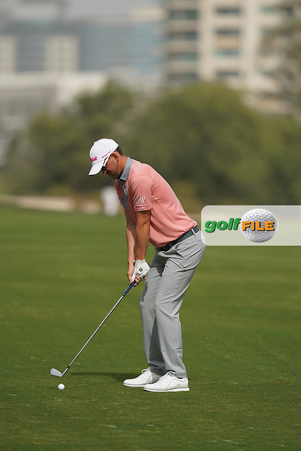 Bernd Wiesberger (AUT) in action during the second round of the Omega Dubai Desert Classic, Emirates Golf Club, Dubai, UAE. 25/01/2019<br /> Picture: Golffile | Phil Inglis<br /> <br /> <br /> All photo usage must carry mandatory copyright credit (&copy; Golffile | Phil Inglis)