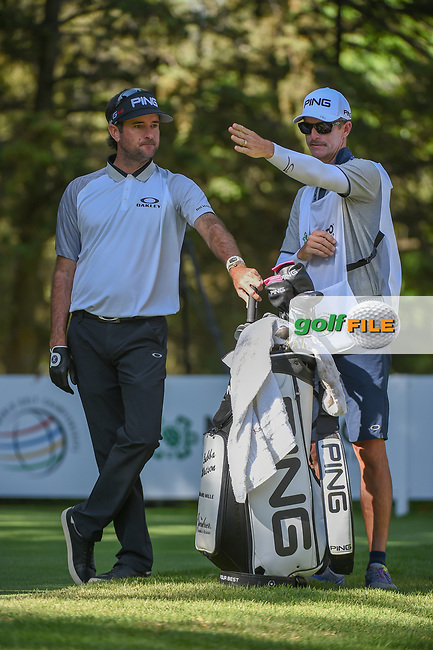 Bubba Watson (USA) looks over his tee shot on 8 during round 1 of the World Golf Championships, Mexico, Club De Golf Chapultepec, Mexico City, Mexico. 2/21/2019.<br /> Picture: Golffile | Ken Murray<br /> <br /> <br /> All photo usage must carry mandatory copyright credit (© Golffile | Ken Murray)