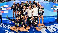 Team Italy ITA Gold medal World Champion 2019<br /> Gwangju South Korea 27/07/2019<br /> Waterpolo Spain v. Italy ESP - ITA Gold Final<br /> 18th FINA World Aquatics Championships<br /> Nambu University Grounds <br /> Photo © Giorgio Scala/ Deepbluemedia / Insidefoto