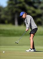 Silvia Brunotti during the New Zealand Amateur Golf Championship final against Rose Zheng at Russley Golf Course, Christchurch, New Zealand. Sunday 5 November 2017. Photo: Simon Watts/www.bwmedia.co.nz