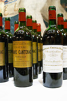 Chateau Cheval Blanc 1989, Saint Emilion, and Ch Brance Cantenac 1983, Margaux, Medoc. Bordeaux, France