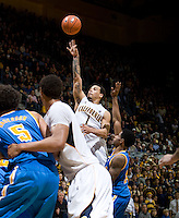 Justin Cobbs of California shoots the ball during the game against UCLA at Haas Pavilion in Berkeley, California on February 14th, 2013.   California defeated UCLA, 77-63.