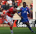 Lee Beevers of Walsall and Jennison Myrie-Williams of Stevenage challenge. - Walsall v Stevenage - npower League 1 - Banks's Stadium, Walsall - 24th March, 2012  .© Kevin Coleman 2012