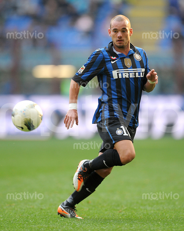 FUSSBALL INTERNATIONAL   SERIE A   SAISON 2011/2012    Inter Mailand - Chievoverona  23.10.2011 Wesley Sneijder (Inter Mailand)