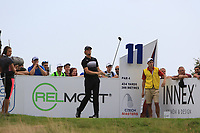 Thomas Pieters (BEL) on the 11th tee during Round 1 of the D+D Real Czech Masters at the Albatross Golf Resort, Prague, Czech Rep. 31/08/2017<br /> Picture: Golffile | Thos Caffrey<br /> <br /> <br /> All photo usage must carry mandatory copyright credit     (&copy; Golffile | Thos Caffrey)