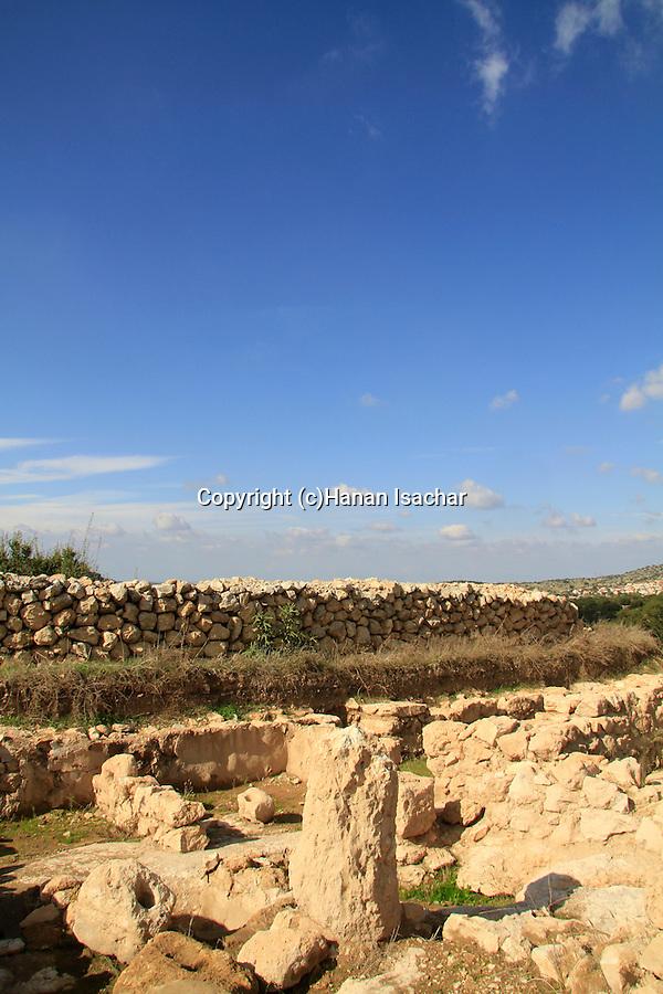 Israel, Shephelah, an ancient Olive Press at Khirbet Qeiyafa