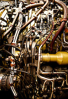A plane engine under repair at the Southwest Airlines maintenance facility near Love Field Airport in Dallas, Texas, Wednesday, October 27, 2010...PHOTO/ MATT NAGER