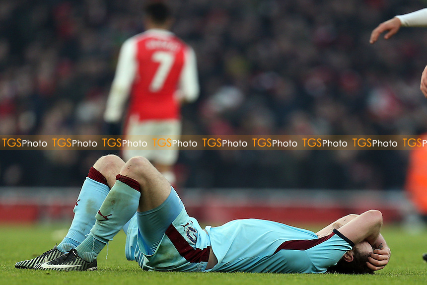 Stephen Ward of Burnley is despondent after Arsenal vs Burnley, Premier League Football at the Emirates Stadium on 22nd January 2017