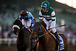 ARCADIA, CA - FEBRUARY 03: Accelerate #3, ridden by Victor Espinoza wins the San Pasqual Stakes at Santa Anita Park on February 3, 2018 in Arcadia, California. (Photo by Alex Evers/Eclipse Sportswire/Getty Images)