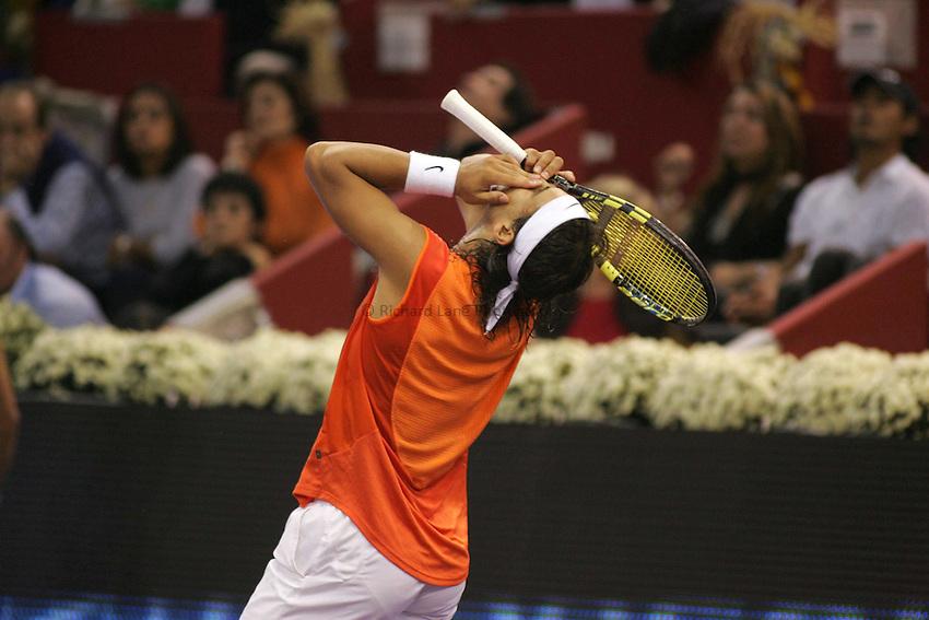 Photo: Sportsbeat.Madrid, ATP Masters Series 2005..23/10/2005..Rafael Nadal looks dejected.