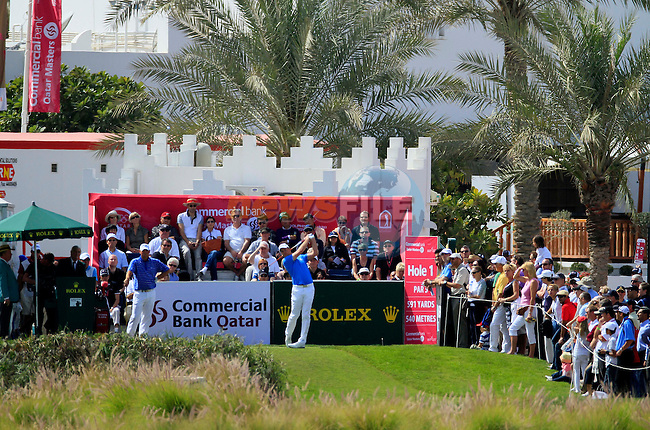 Robert Karlsson (SWE) in action during the third round of .the Commercialbank Qatar Masters presented by Dolphin Energy played at Doha Golf Club, Doha, Qatar on 5th February 2011..Picture: Phil Inglis / www.golffile.ie.