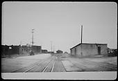 North end of Santa Fe railroad yards.<br /> D&amp;RGW  Santa Fe, NM  Circa 1928