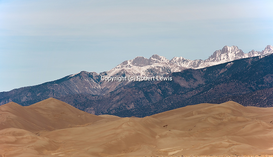 extraordinary combination of snow capped mountains and desert scenery.