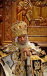 Egypt's Coptic Pope Shenouda III attends an Easter service in the main cathedral in Cairo April 23, 2011. This year, the Orthodox and Catholic churches are celebrating Easter on the same date. Photo by Ahmed Asad