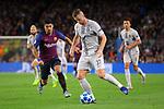UEFA Champions League 2018/2019 - Matchday 3.<br /> FC Barcelona vs FC Internazionale Milano: 2-0.<br /> Luis Suarez vs Milan Skriniar.