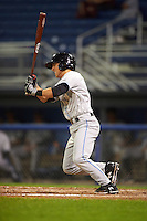 Hudson Valley Renegades designated hitter Jonathan Popadics (6) at bat during a game against the Batavia Muckdogs on August 1, 2016 at Dwyer Stadium in Batavia, New York.  Hudson Valley defeated Batavia 5-1.  (Mike Janes/Four Seam Images)