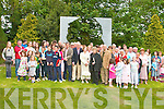 Brenda Fricker joins the Keane family for a photo wit Jimmy Deenihan TD  and thd the large crowed after the unvveiling of the John B. Keane monument in the garden of Europe Listowel on Sunday.  ......   Copyright Kerry's Eye 2008