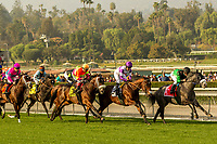 ARCADIA, CA  DECEMBER 26: The field of the Mathis Brothers Mile (Grade ll) on December 26, 2017 at Santa Anita Park in Arcadia, CA.(Photo by Casey Phillips/ Eclipse Sportswire/ Getty Images)