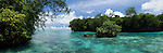 Palau, Micronesia -- Pristine waters of Palau.