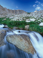 A stream running down the west side of Mt. Whitney