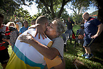 A village elder hugs Batonbearer Patrick Johnson as the Queen's Baton Relay visited Yarrabah. In the host state of Queensland the Queen's Baton will visit 83 communities from Saturday 3 March to Wednesday 4 April 2018. As the Queen's Baton Relay travels the length and breadth of Australia, it will not just pass through, but spend quality time in each community it visits, calling into hundreds of local schools and community celebrations in every state and territory. The Gold Coast 2018 Commonwealth Games (GC2018) Queen's Baton Relay is the longest and most accessible in history, travelling through the Commonwealth for 388 days and 230,000 kilometres. After spending 100 days being carried by approximately 3,800 batonbearers in Australia, the Queen's Baton journey will finish at the GC2018 Opening Ceremony on the Gold Coast on 4 April 2018.