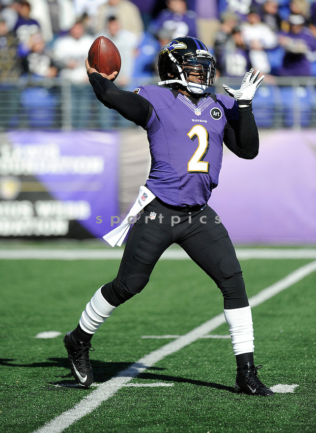 Baltimore Ravens Tyrod Taylor (2) in action during a game against the Colts on January 6, 2013 at M&T Bank Stadium in Baltimore, MD. The Ravens beat the Colts 24-9.