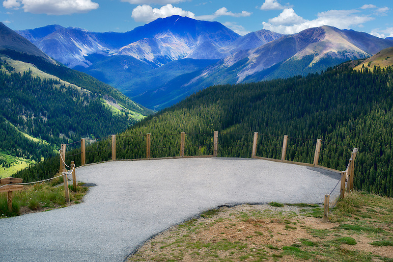 Overlook at Independence Pass (continental divide). Colorado
