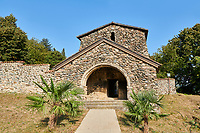 Pictures &amp; images of Ubisa St. George Georgian Orthodox medieval monastery, 1141, Georgia (country)<br /> <br /> Ubisa St. George was founded by St. Grigol (Gregory) of Khandzta under the patronage of King of Abkhazs Demetre II. The church is a single nave with a single apse above the altar.