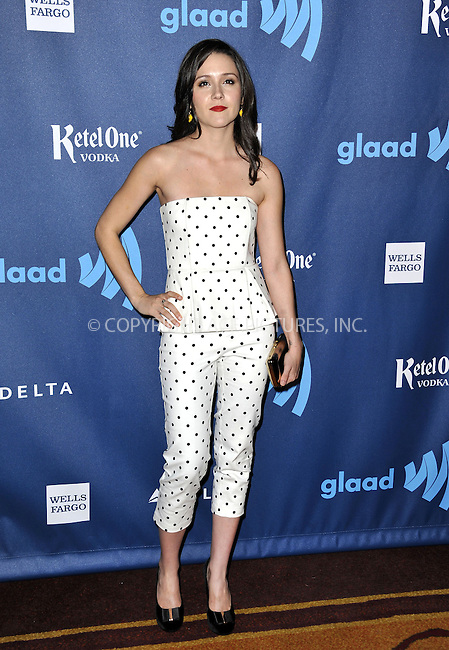 WWW.ACEPIXS.COM......April 20, 2013, Los Angeles, CA.....Shannon Woodward arriving at the 24th Annual GLAAD Media Awards held at the JW Marriott Los Angeles at L.A. LIVE on April 20, 2013 in Los Angeles, California. ..........By Line: Peter West/ACE Pictures....ACE Pictures, Inc..Tel: 646 769 0430..Email: info@acepixs.com