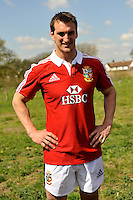 London, England. Sam Warburton The British and Irish Lions Captain poses for the cameras during the 2013 British and Irish Lions tour squad and captain announcement at London Syon Park Hotel on April 30, 2013 in London, England.