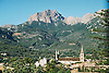 Valley of Soller with mountain Mig Dia and parish church Sant Bartomeu<br /> <br /> Valle de Soller con el monte Mig Dia y la parroquia Sant Bartomeu<br /> <br /> Tal von Soller mit dem Berg Mig Dia und der Pfarrkirche Sant Bartomeu<br /> <br /> 1840 x 1232 px