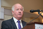 Gabriel Keating, who proposed Pat Breen, TD, speaking at the Clare Fine Gael selection convention in the Auburn Lodge hotel, Enis. Photograph by John Kelly.