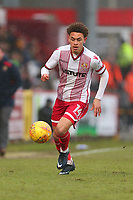 Luke Amos of Stevenage during Stevenage vs Luton Town, Sky Bet EFL League 2 Football at the Lamex Stadium on 10th February 2018