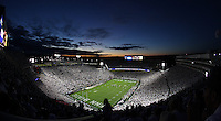 State College, PA - 10/12/2013:  The sun set over the &quot;Whiteout&quot; at Beaver Stadium.  Penn State defeated Michigan by a score of 43-40 in four overtimes on Saturday, October 12, 2013, at Beaver Stadium.<br /> <br /> Photos by Joe Rokita / JoeRokita.com