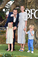 Rafe Spall &amp; Elize du Toit with family at the UK premiere of 'The BFG' at the Odeon Leicester Square, London.<br /> July 17, 2016  London, UK<br /> Picture: Steve Vas / Featureflash