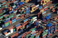 DEUTSCHLAND Hamburg Hafen , Container Stellplatz Containerterminal HHLA<br />   /<br /> GERMANY Hamburg container harbour , terminal, HHLA