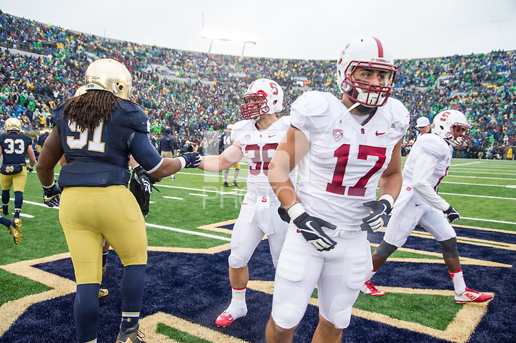 STANFORD, IN-OCTOBER 04, 2014- Stanford Cardinal v Notre Dame.