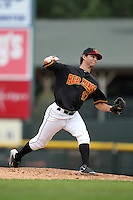 Rochester Red Wings pitcher Carlos Gutierrez (17) delivers a pitch during a game vs. the Buffalo Bisons at Frontier Field in Rochester, New York;  September 6, 2010.  Buffalo defeated Rochester 16-1 in the season finale for both teams.  Photo By Mike Janes/Four Seam Images