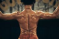 Los Angeles, 1980. Contestant at California Women's Bodybuilding Championship.