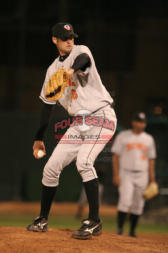 Bowie Baysox Matt Bruback during an Eastern League game at Jerry Uht Park on April 14, 2006 in Erie, Pennsylvania.  (Mike Janes/Four Seam Images)