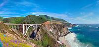 Bixby Creek Bridge, Coast Road  (north end) Highway 1, Big Sur, Ca,